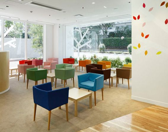 Sugamo Shinkin Bank Interior 14 Colors Windows In Tokiwadai Branch Tokyo    Home Design And Home Interior
