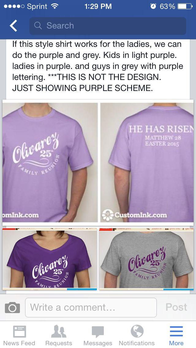 29c1c1805 Family Reunion Purple Color Scheme Shirts | Family Reunion T-Shirt ...