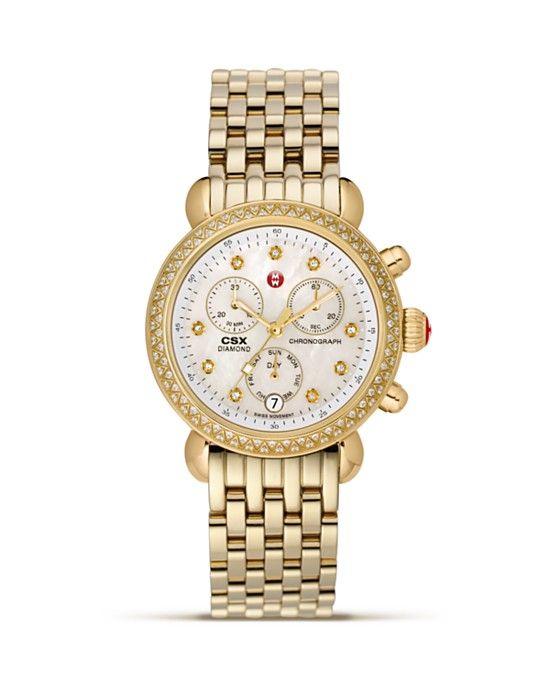 Michele CSX36 Diamond Day Watch, 36 mm PRICE: $1,795.00