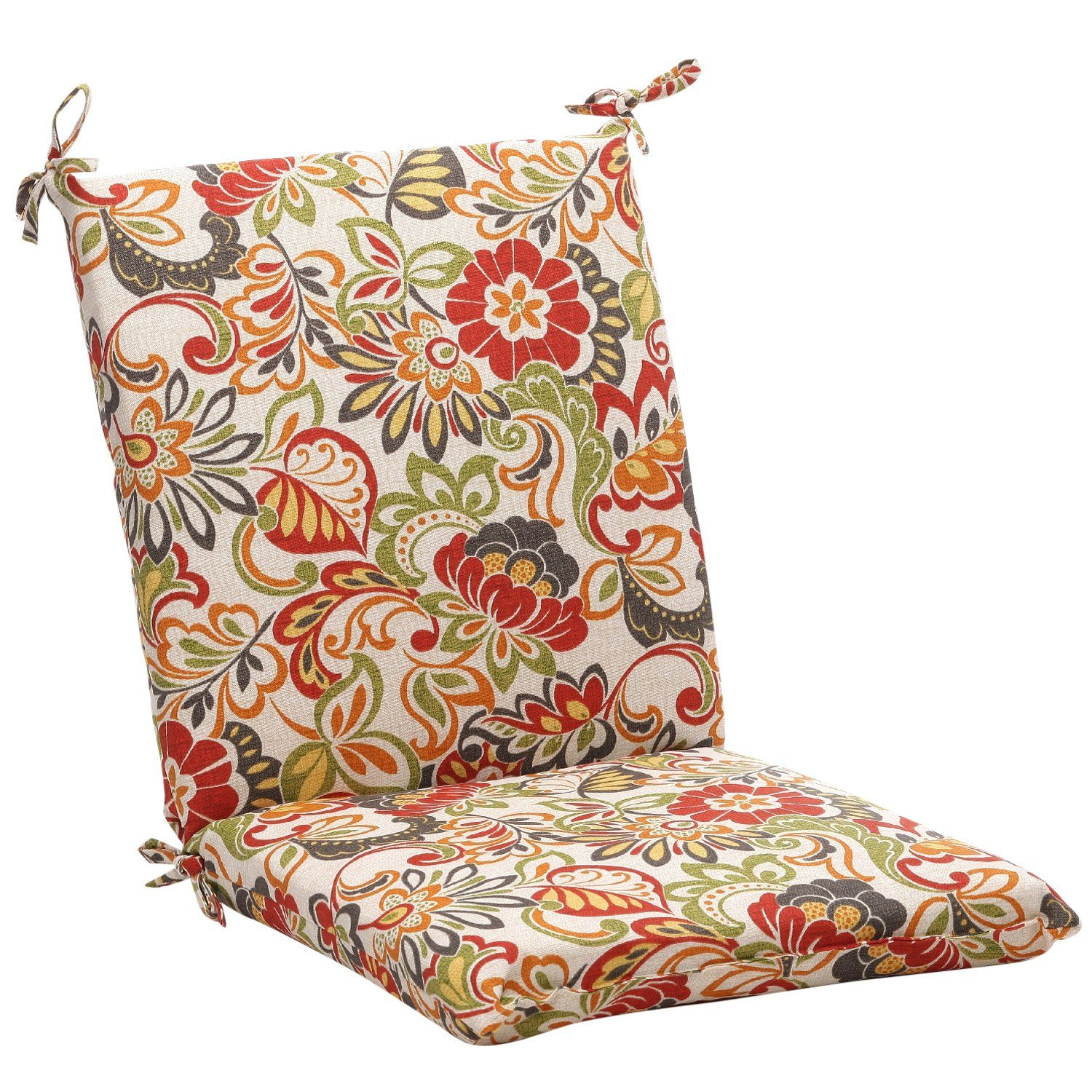 Pillow Perfect Indoor/Outdoor Multicolored Modern Floral