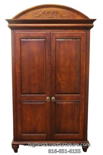 Superieur ETHAN ALLEN British Classics 48u2033 Clothing Armoire 260 Cinnabar Finish  29 5415