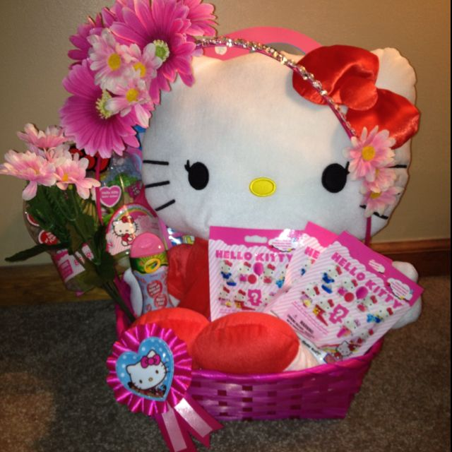 Hello kitty easter basket all things inside purchased at walmart hello kitty easter basket all things inside purchased at walmart decorated negle Images