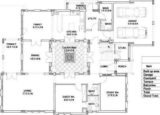 Valencia Type 2 Ground Floor Plan Floor Plans Ground Floor Plan Villa Plan