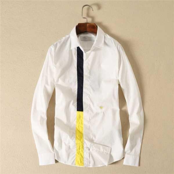 boutique chemise dior homme ruban contrastant manche longue blanc u100m4051 polo pinterest. Black Bedroom Furniture Sets. Home Design Ideas