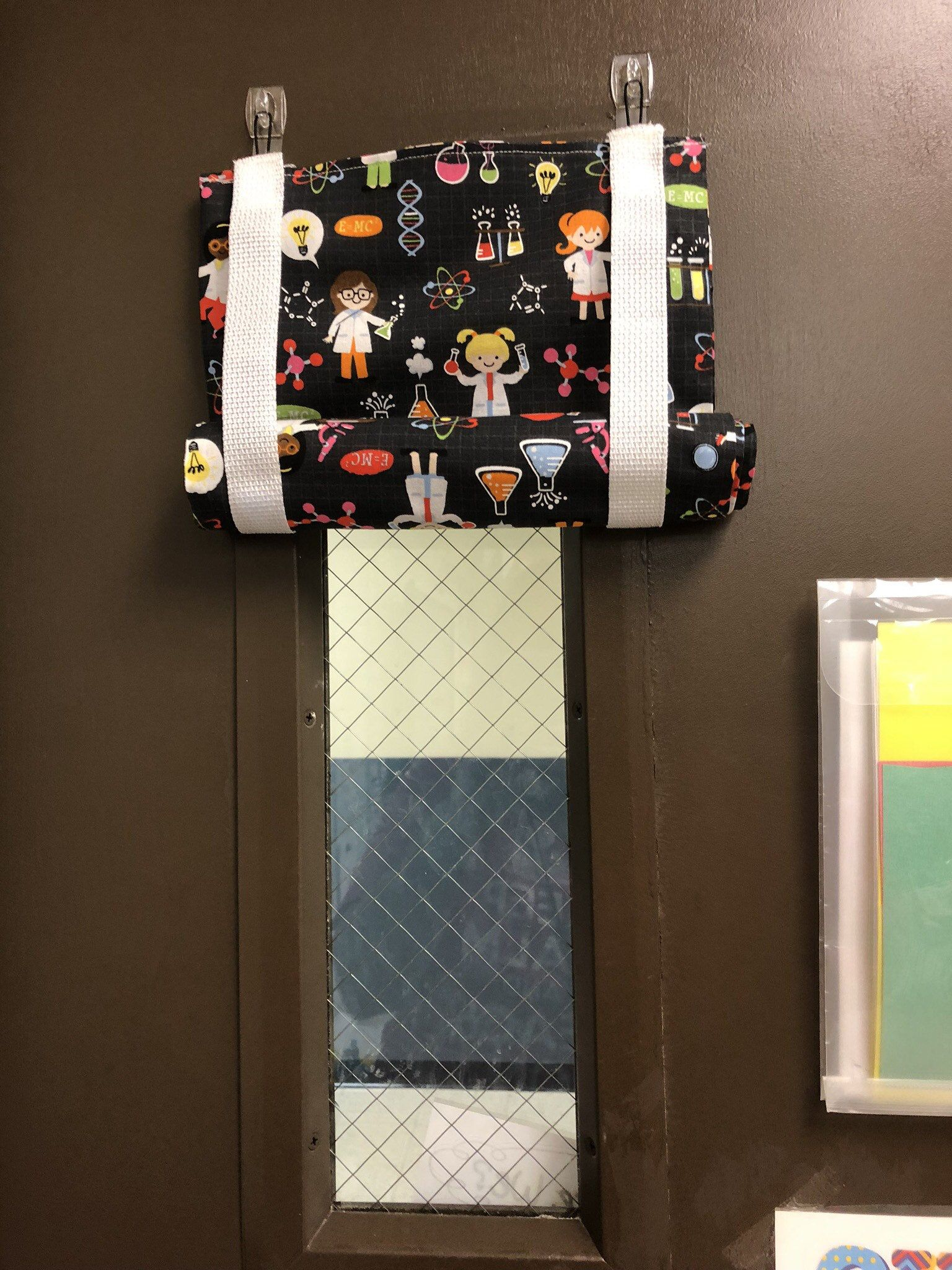 Classroom Door Window Curtain Emergency Quick Coverage At School With Images Curtain For Door Window Classroom Curtains Door Curtains Designs
