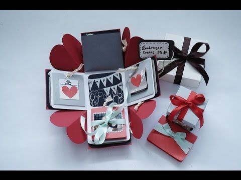 Exploding Box Card Full Tutorial Sweetheart Surprise Theme Exploding Box Card Exploding Box For Boyfriend Diy Exploding Box