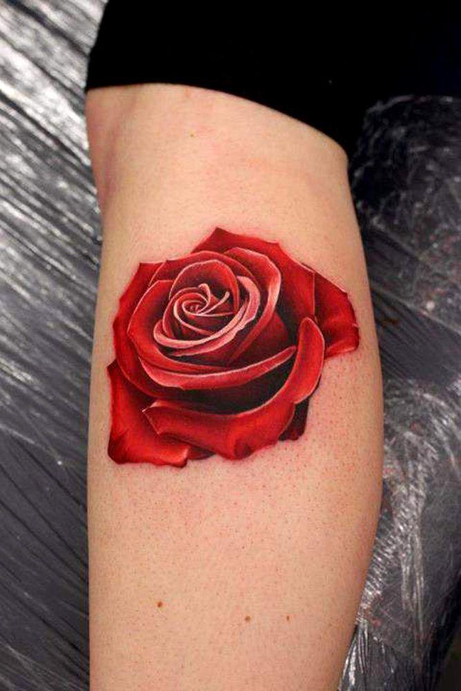 31 Incredible And Slightly Creepy Hyperrealistic Tattoos Rose Tattoos For Men Rose Tattoos For Women Realistic Rose Tattoo