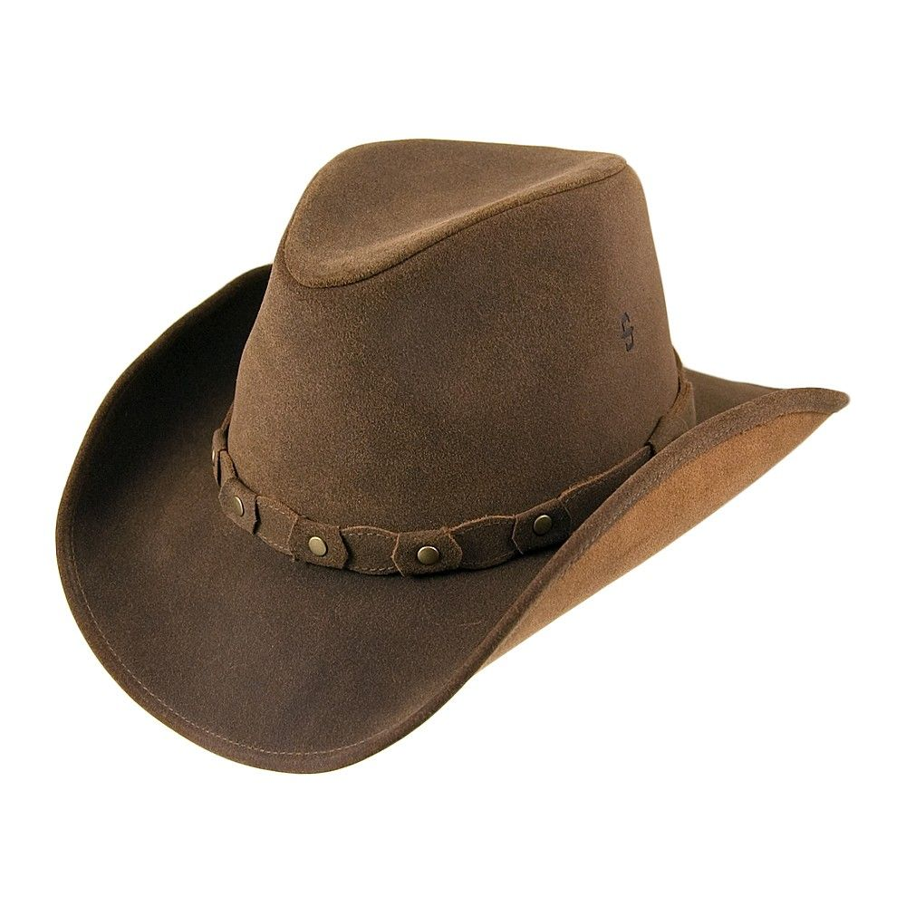 Stetson Hats Annville Leather Cowboy Hat - Brown