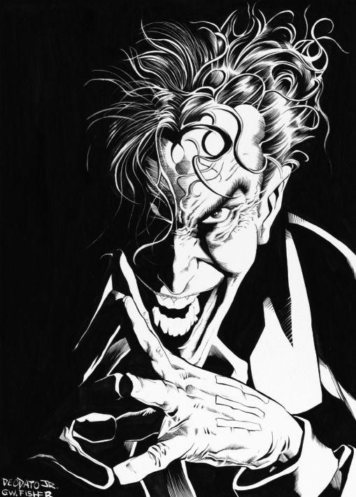 Mike Deodato S Joker Comics Pinterest Dessin Joker And Noir