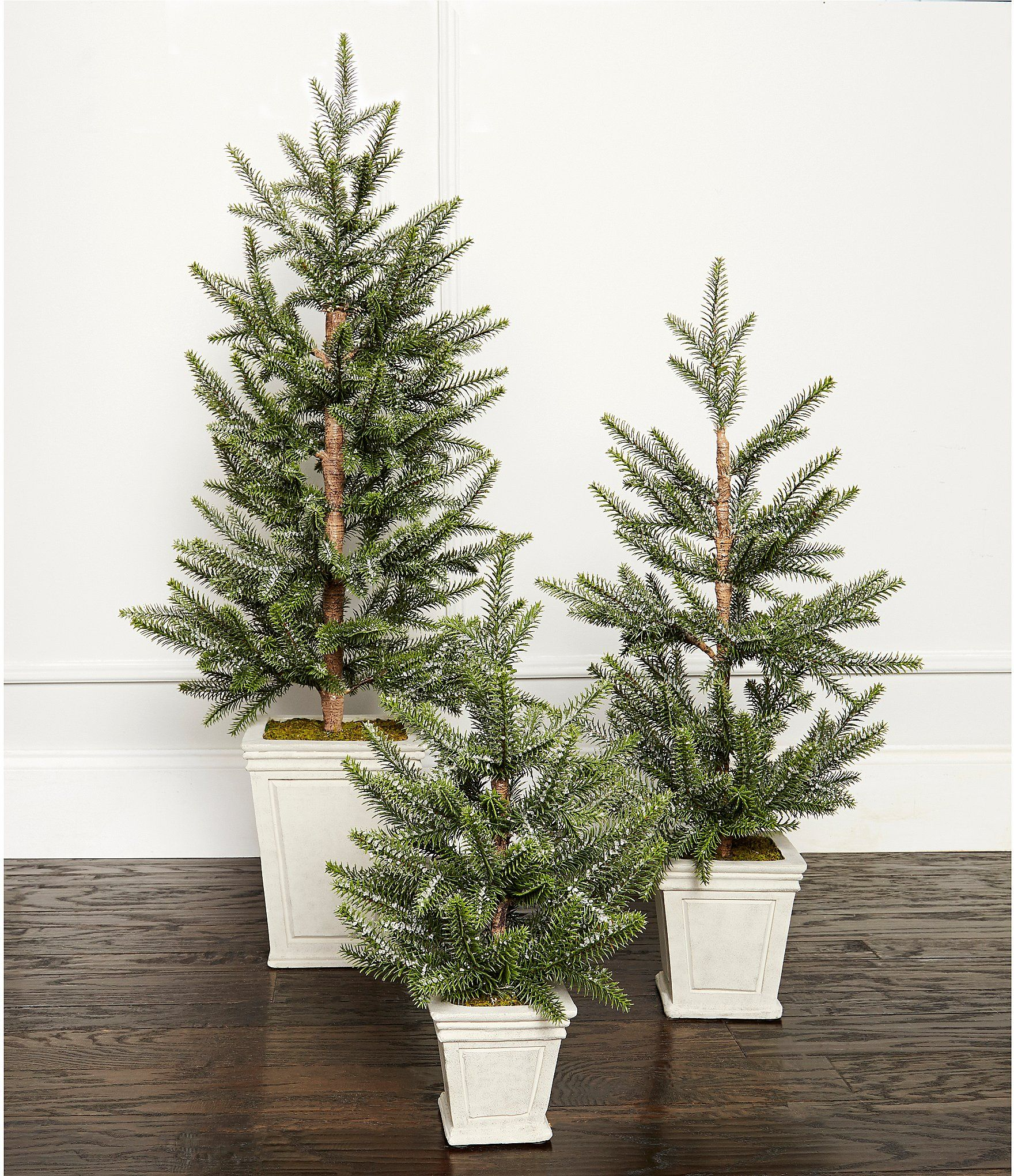 Southern Living Glittered Pine Christmas Tree In Rectangular Ceramic Pot Dillard S In 2020 Pine Christmas Tree Porch Christmas Tree Fake Christmas Trees