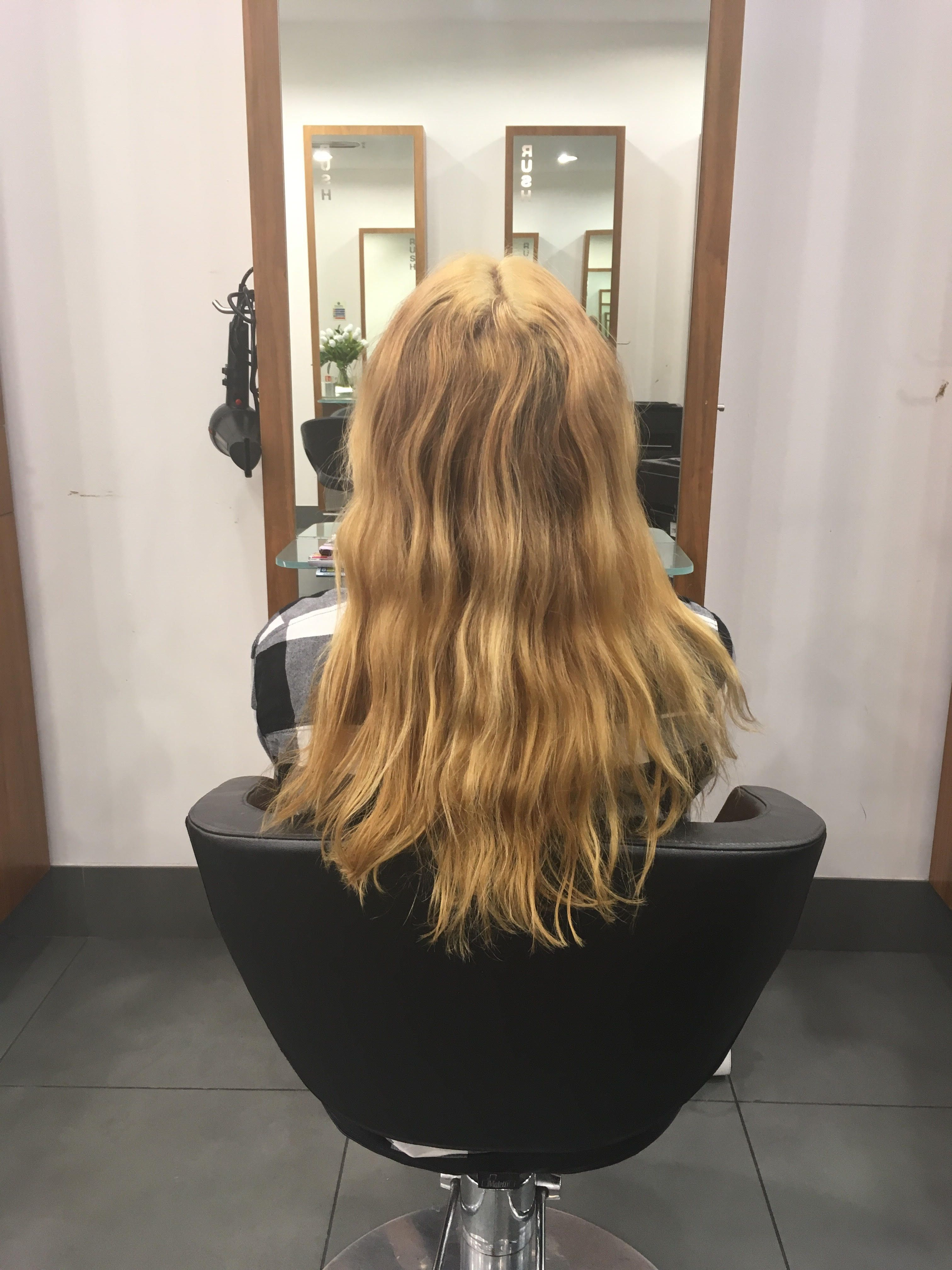Before and after a bad bleach job. hair beauty Skin