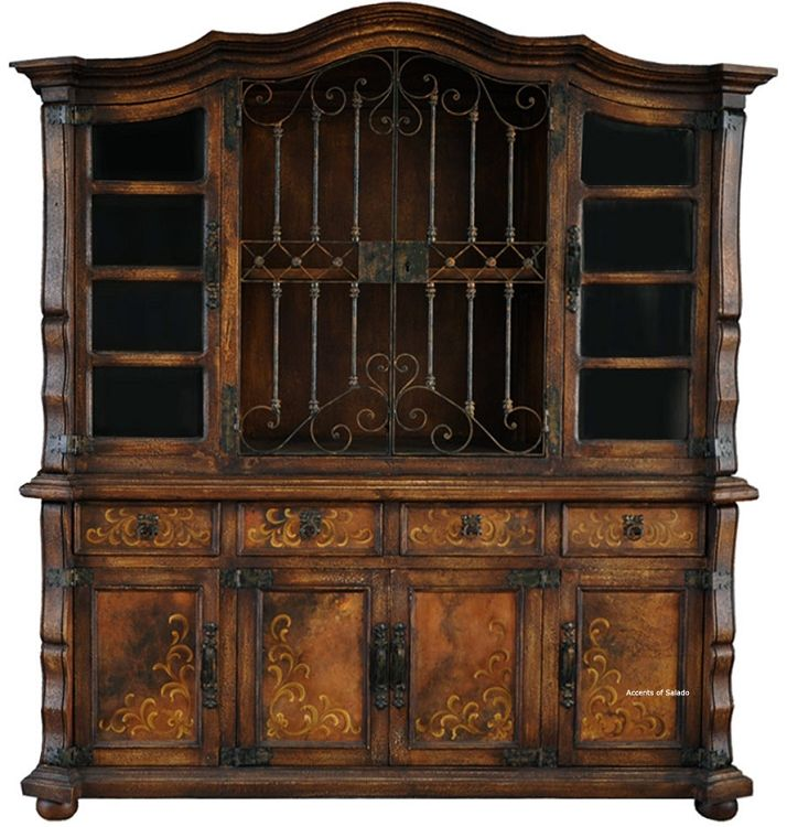 Dining Room Furniture Hutch Awesome Santa Barbara Old World Hutch  Santa Barbara Iron And Rustic Design Ideas
