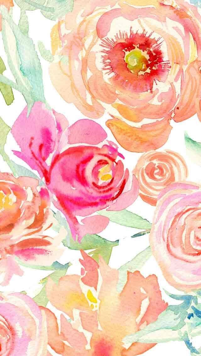 Pin By Angela Williams On Clipart Floral Watercolor Wallpaper Watercolor Desktop Wallpaper Flower Wallpaper