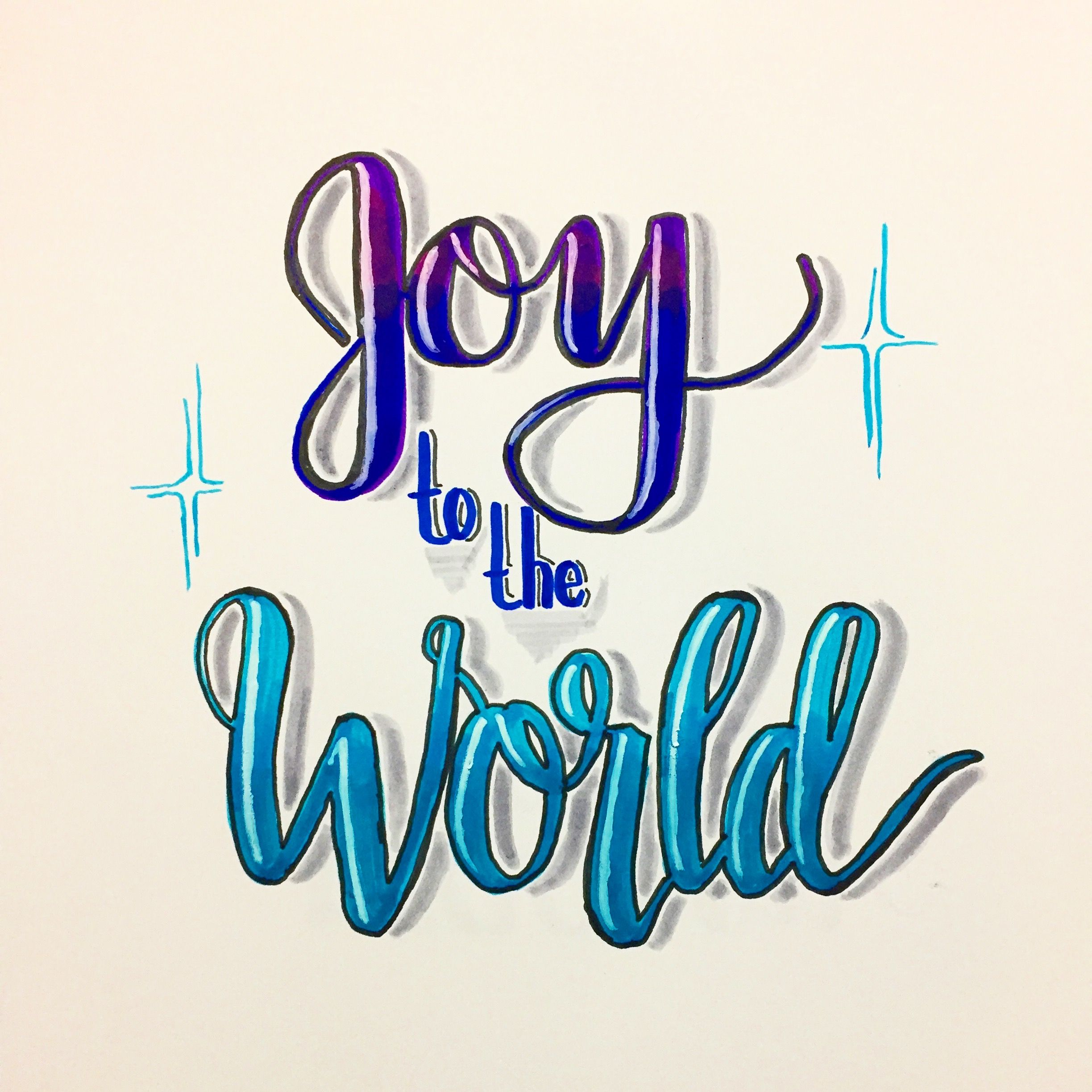 Joy To The World Joytotheworld Lettering Calligraphy Moderncalligraphy Brushlettering