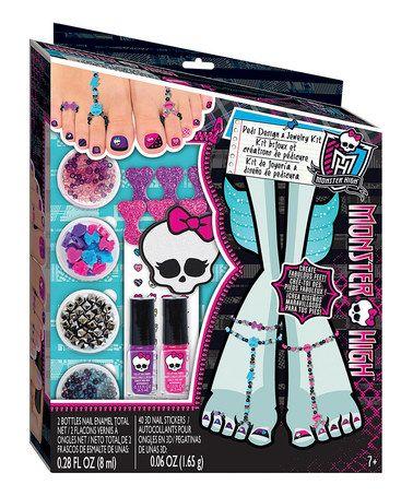 Look at this #zulilyfind! Monster High™ Pedi Design & Jewelry Kit by Monster High #zulilyfinds