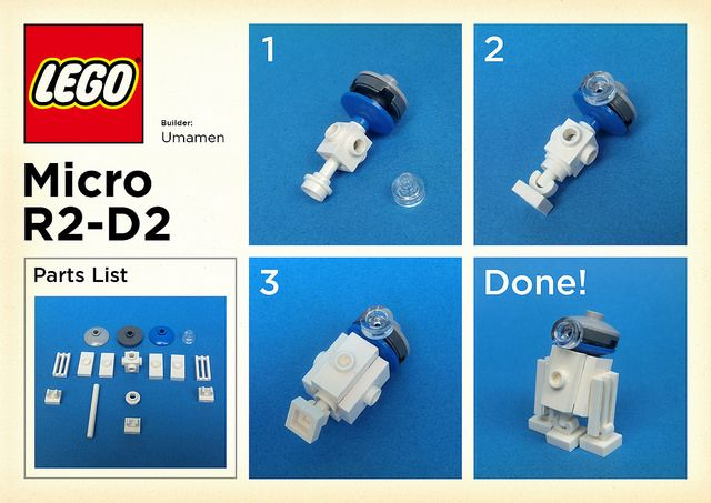 Lego Micro R2 D2 Instructions In 2018 Lego Fun Ideas And