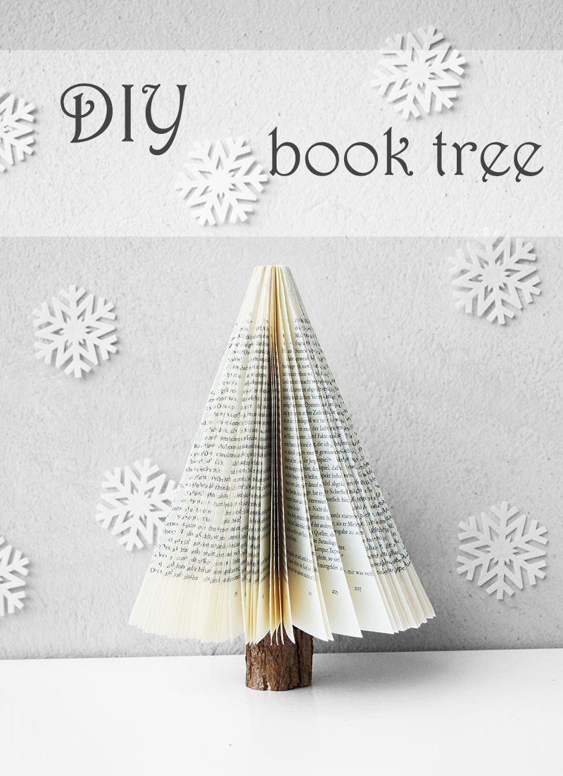 Tannenbaum Buch.Buch Tannenbaum Book Tree Basteln Aus Alten Büchern Tannenbaum