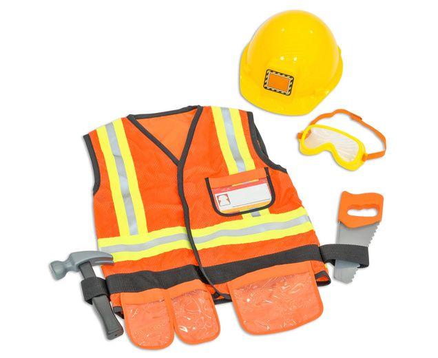 Bauarbeiter Kostum Fur Kinder Von 3 Bis 6 Jahren Mit Sage