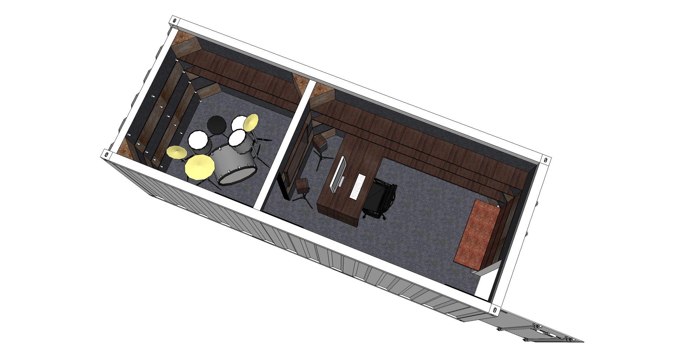 container recording studio 2 200 1 145 pixels container pinterest recording studio. Black Bedroom Furniture Sets. Home Design Ideas