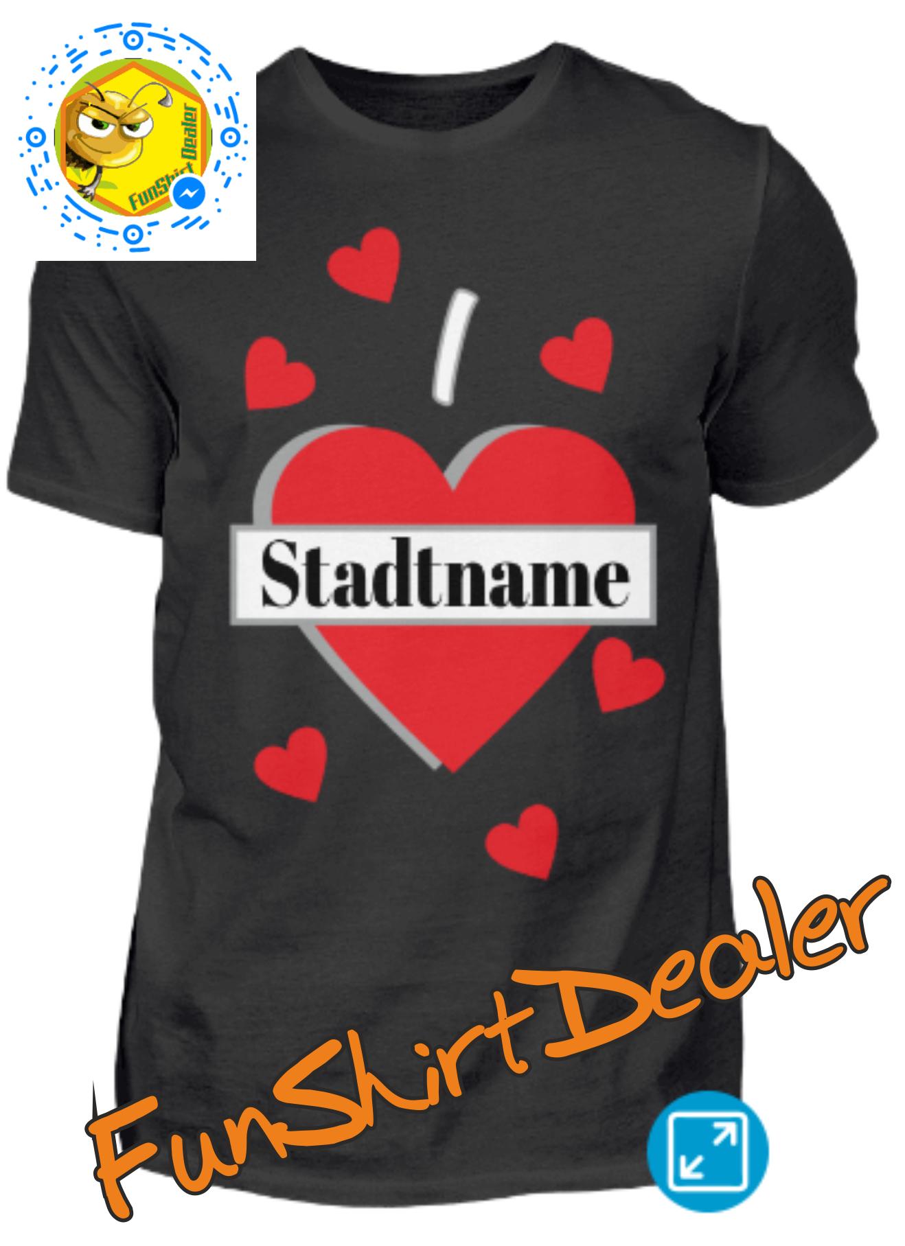 size 40 765f3 70a02 Wunschshirt Stadt Stadtname | individuell bedruckte T-Shirts ...