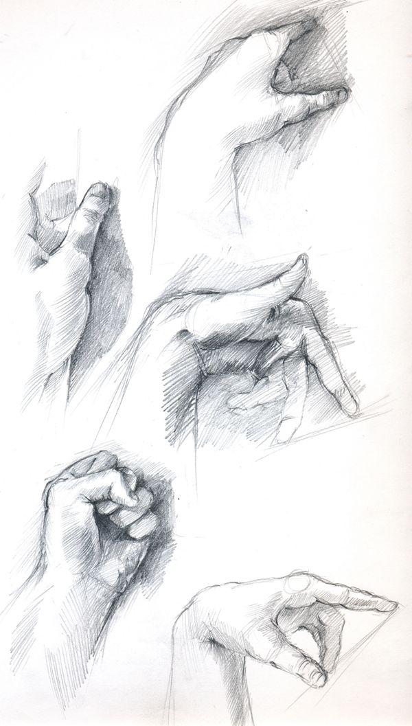 hand studies by O-nay.deviantart.com on @deviantART
