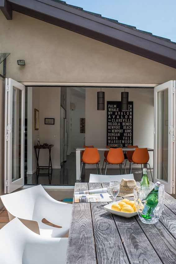 Bi folds opening up onto  beautiful summer patio at home with lucy and also best from the mag outdoors images on pinterest ideas rh