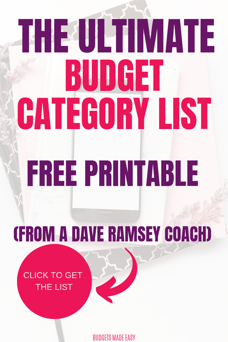 100 Simple Budget Categories That Will Save Your Sanity