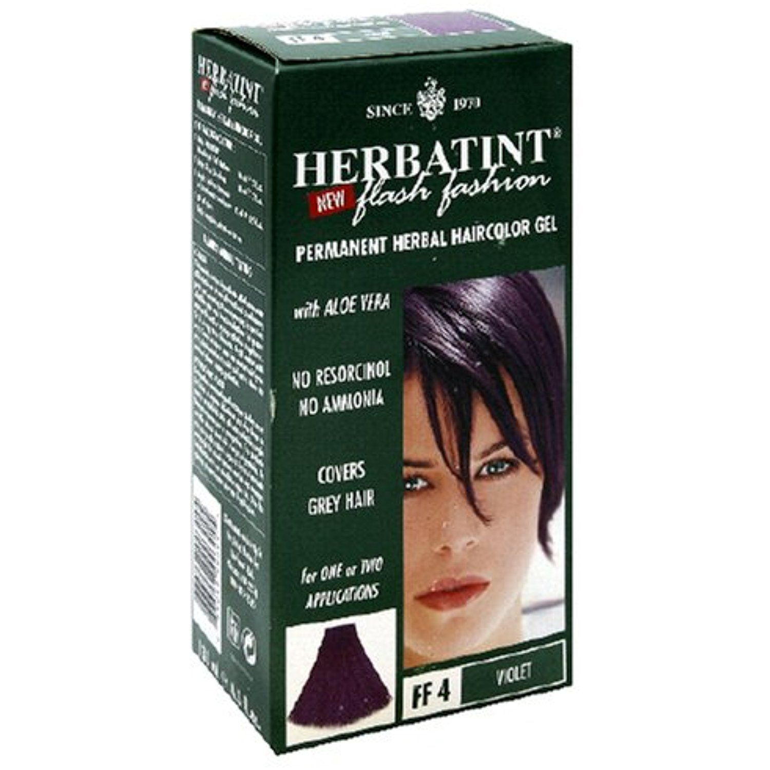 Herbatint Flash Fashion Permanent Herbal Haircolor Gel Violet Ff4