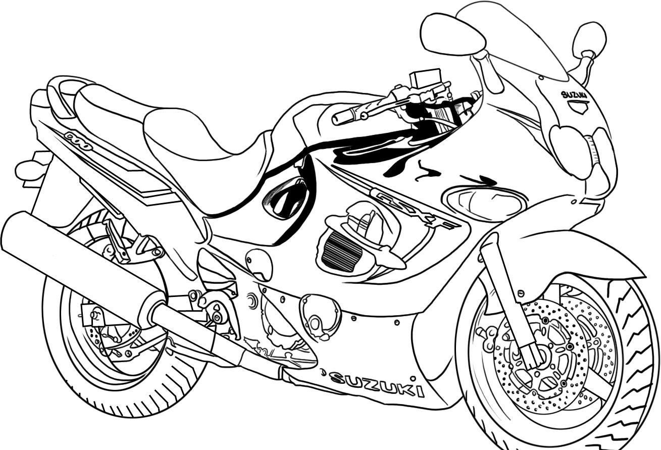 Free Printable Motorcycle Coloring Pages For Kids With Images