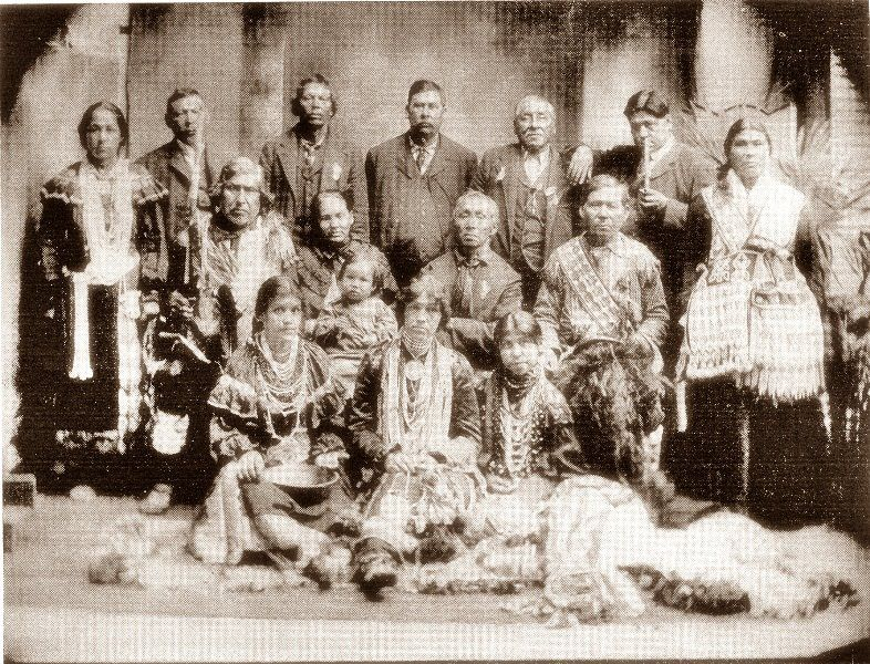 Menominee group attending the 50th Anniversary Celebration of the founding of the City of Oshkosh, Wisconsin - 26 August 1903