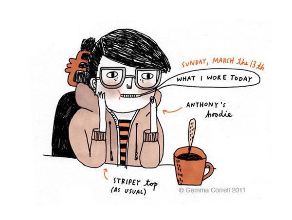what I wore today : March 13 by gemma correll, via Flickr