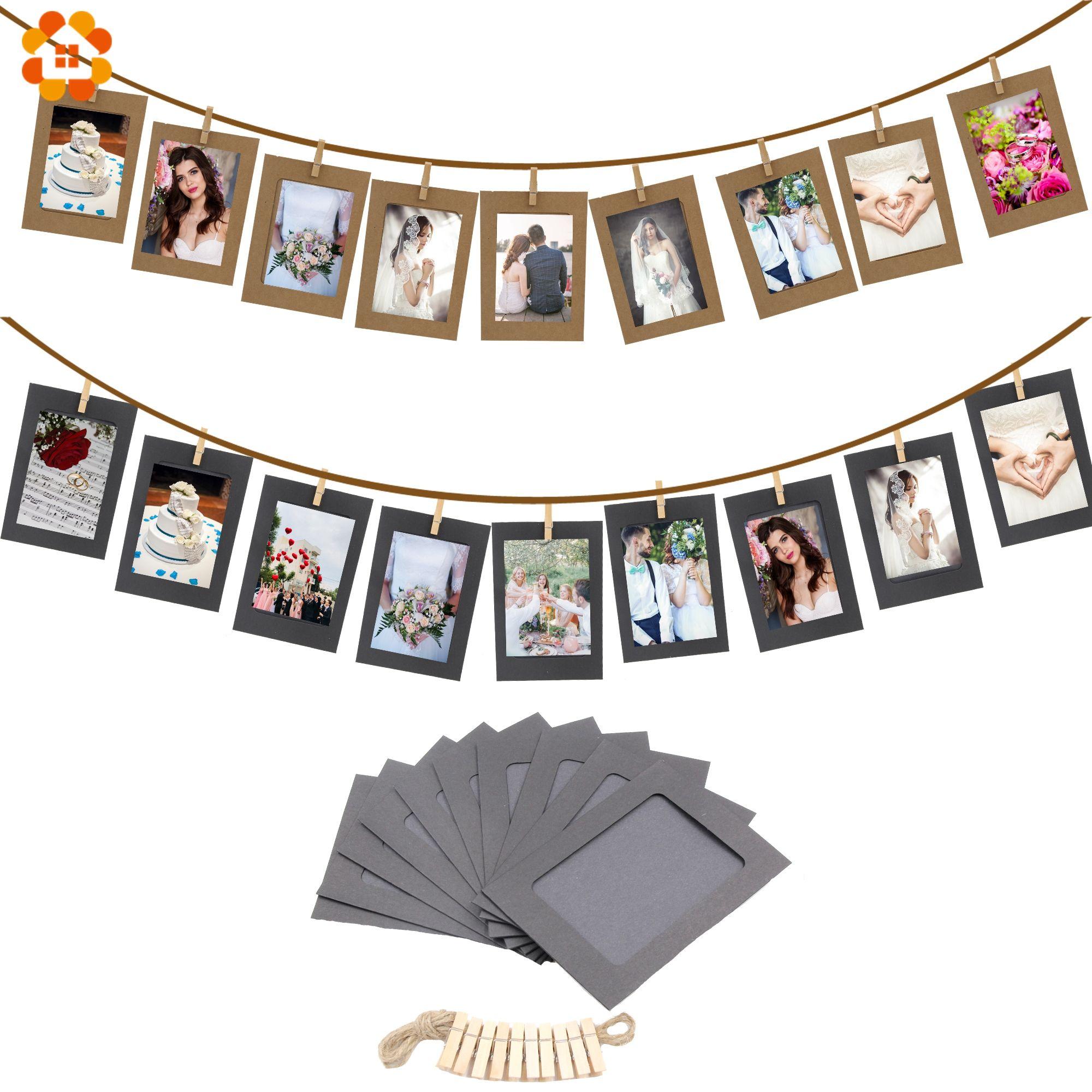 Buy 10PCS/Lot DIY Photo Frame Wooden Clip Paper Picture Holder For ...