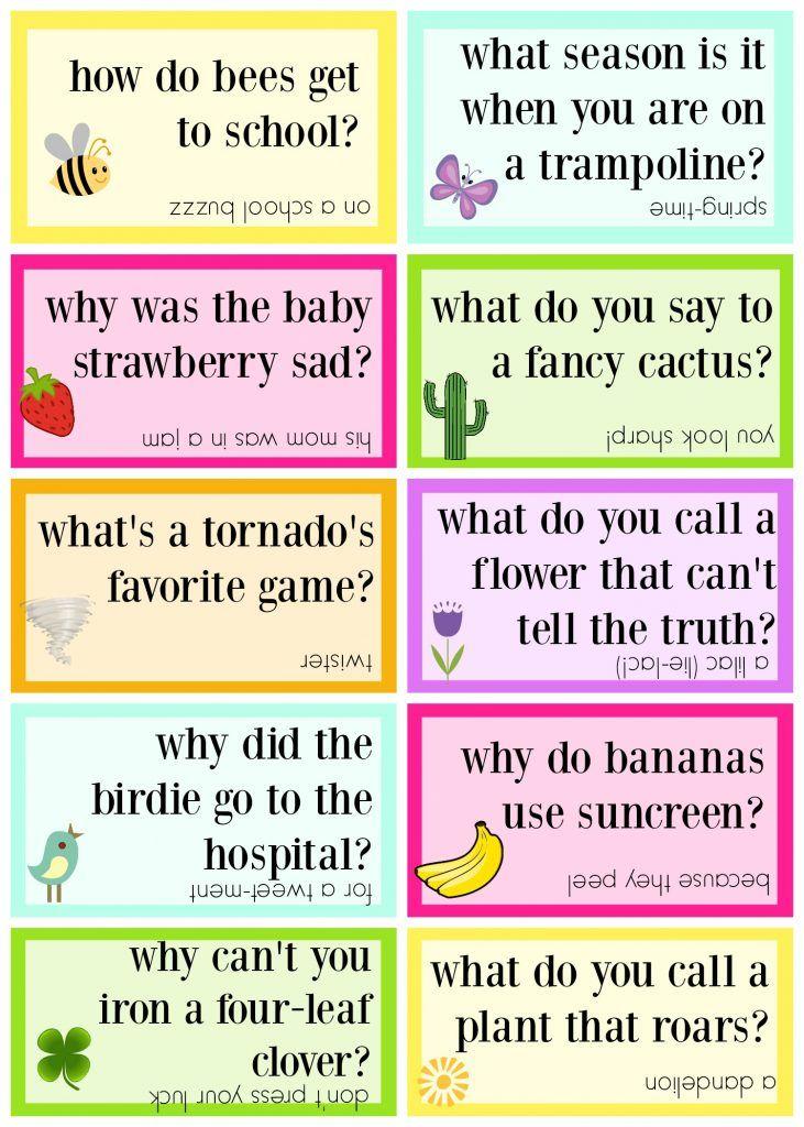 Lunch Box Jokes for Spring, FREE PRINTABLE Ha ha ha ha