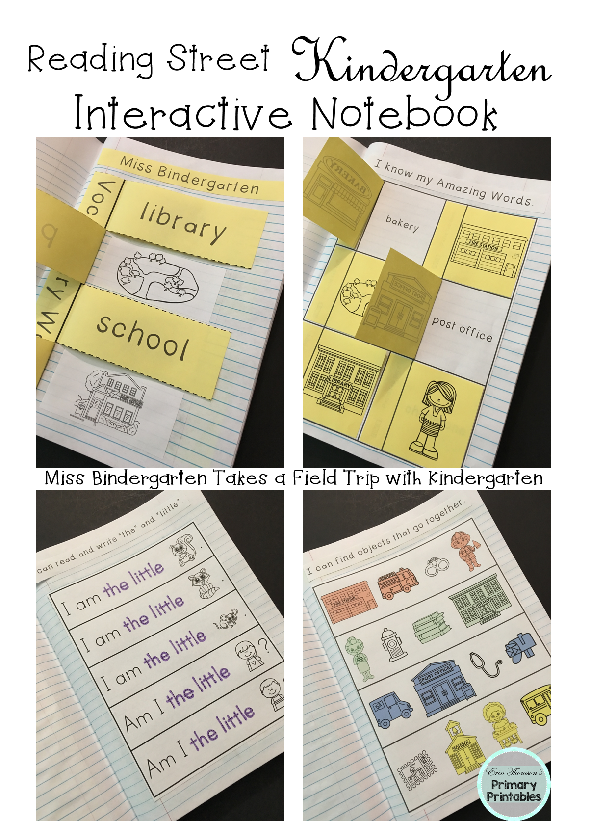 Miss Bindergarten Interactive Notebook Reading Street