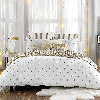 Anthology Gold Glam Twin Twin Xl Comforter Set Comforter Twin