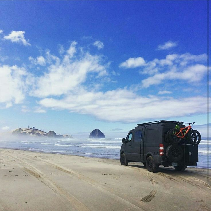 Sprinter Van With Aluminess Rear Bumper Ladder And Roof Rack Exploring The Oregon Coast