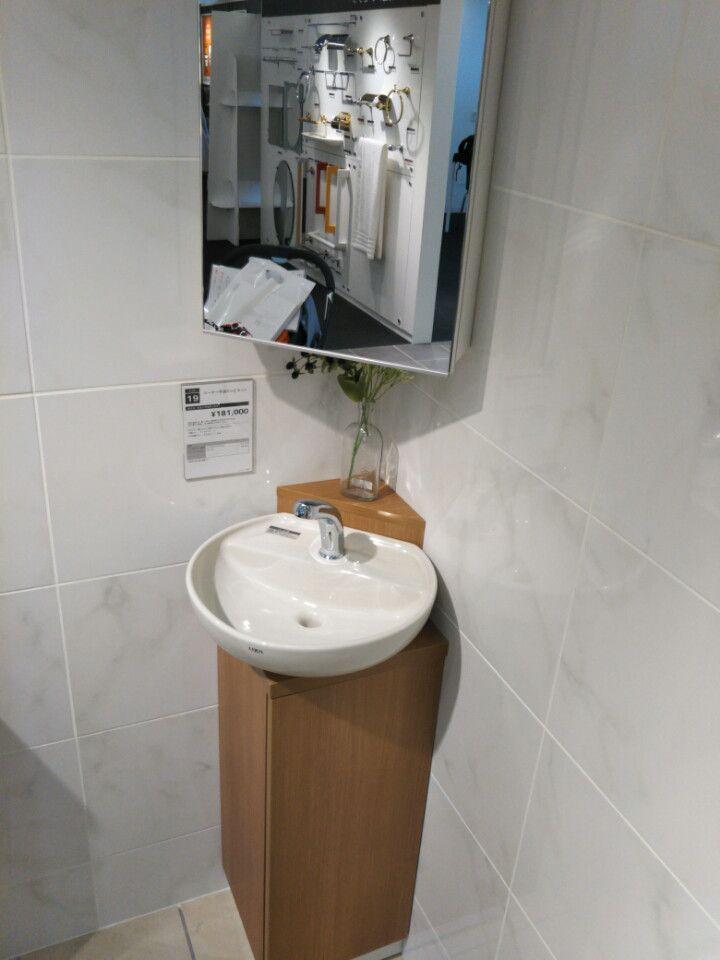 トイレにこの手洗器を付けさせてください リフォーム バスルーム 玄関 手洗い トイレのアイデア
