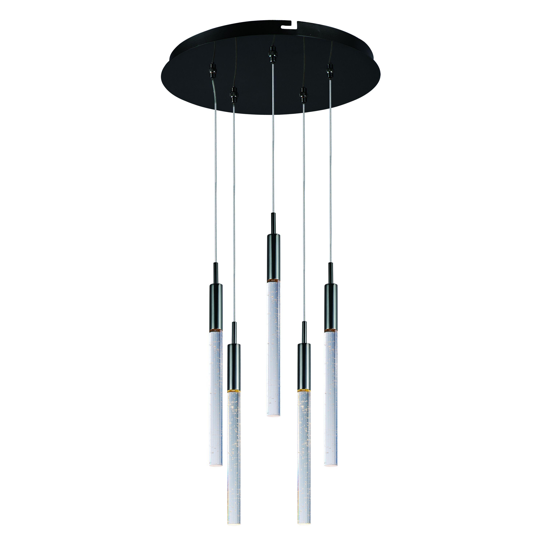 Maxim lighting scepter light led black chrome pendant light black