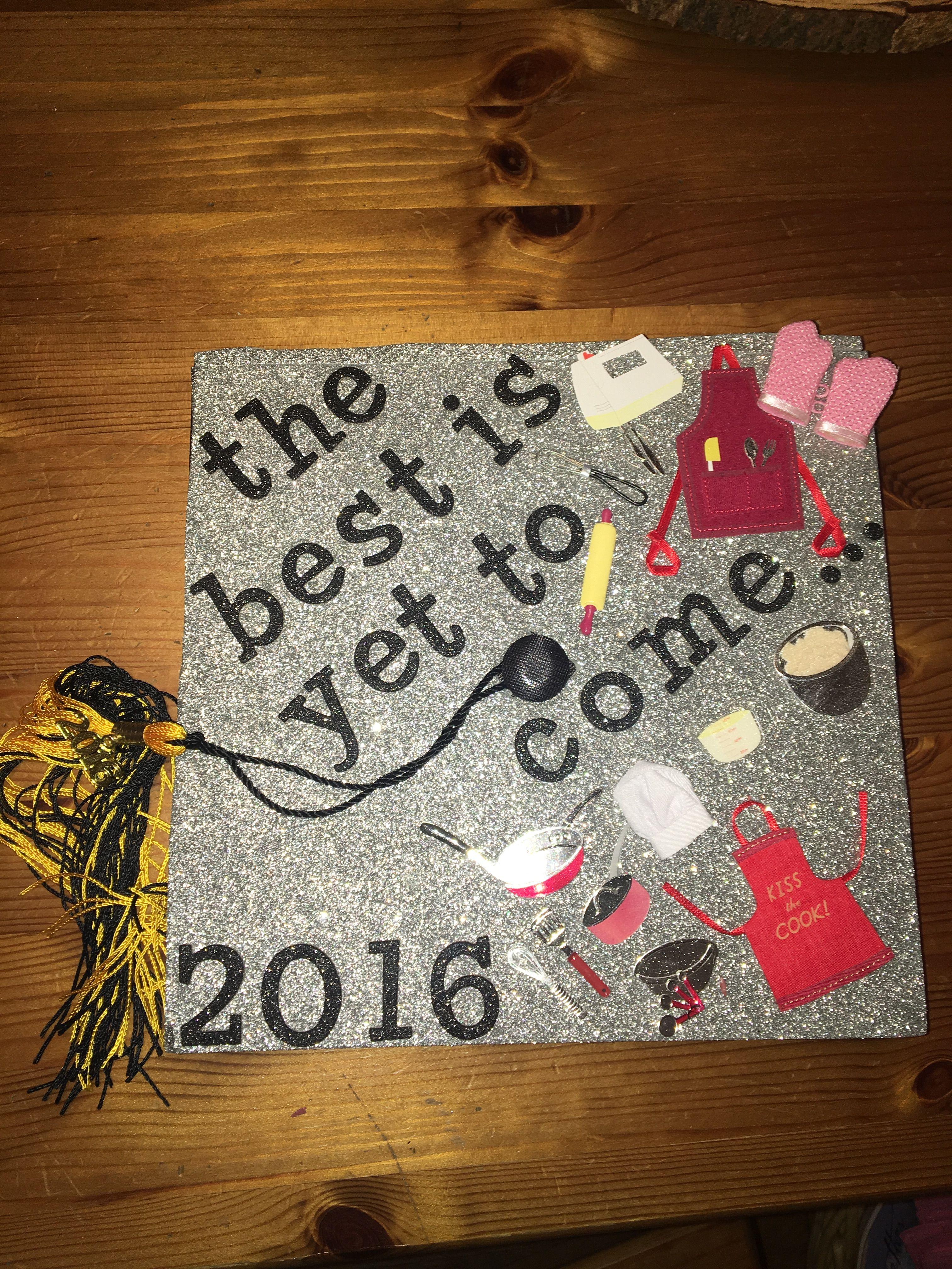 Senior Graduation Cap Diy Culinary Arts Bergen County Technical
