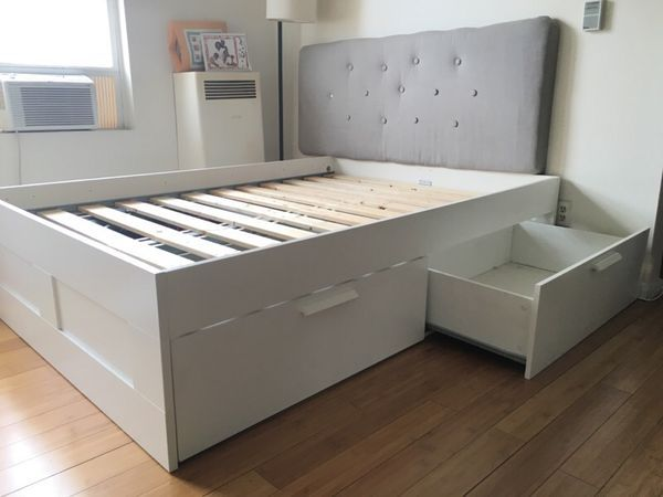 Ikea Brimnes Bed With Tufted Headboard In Los Angeles Ca S For 200