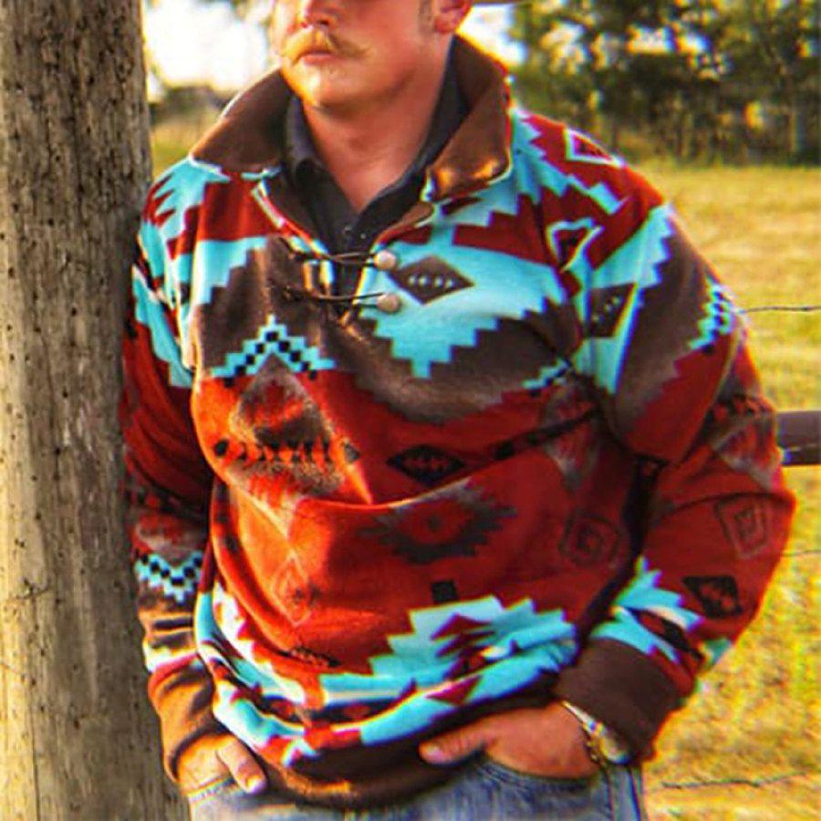 Mens Traditional Printed Casual Sweatshirt In 2021 Casual Sweatshirt Red Hoodie Mens Men S Retro Style [ 900 x 900 Pixel ]