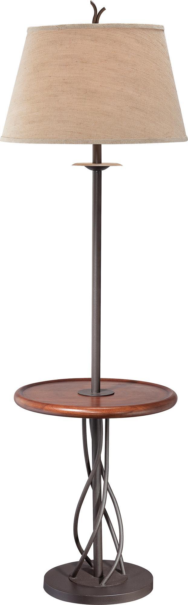 Iron Twist Base Wood Tray Table Floor Lamp N5774 Lamps Plus Madera L 225 Mparas De Pie Hierro