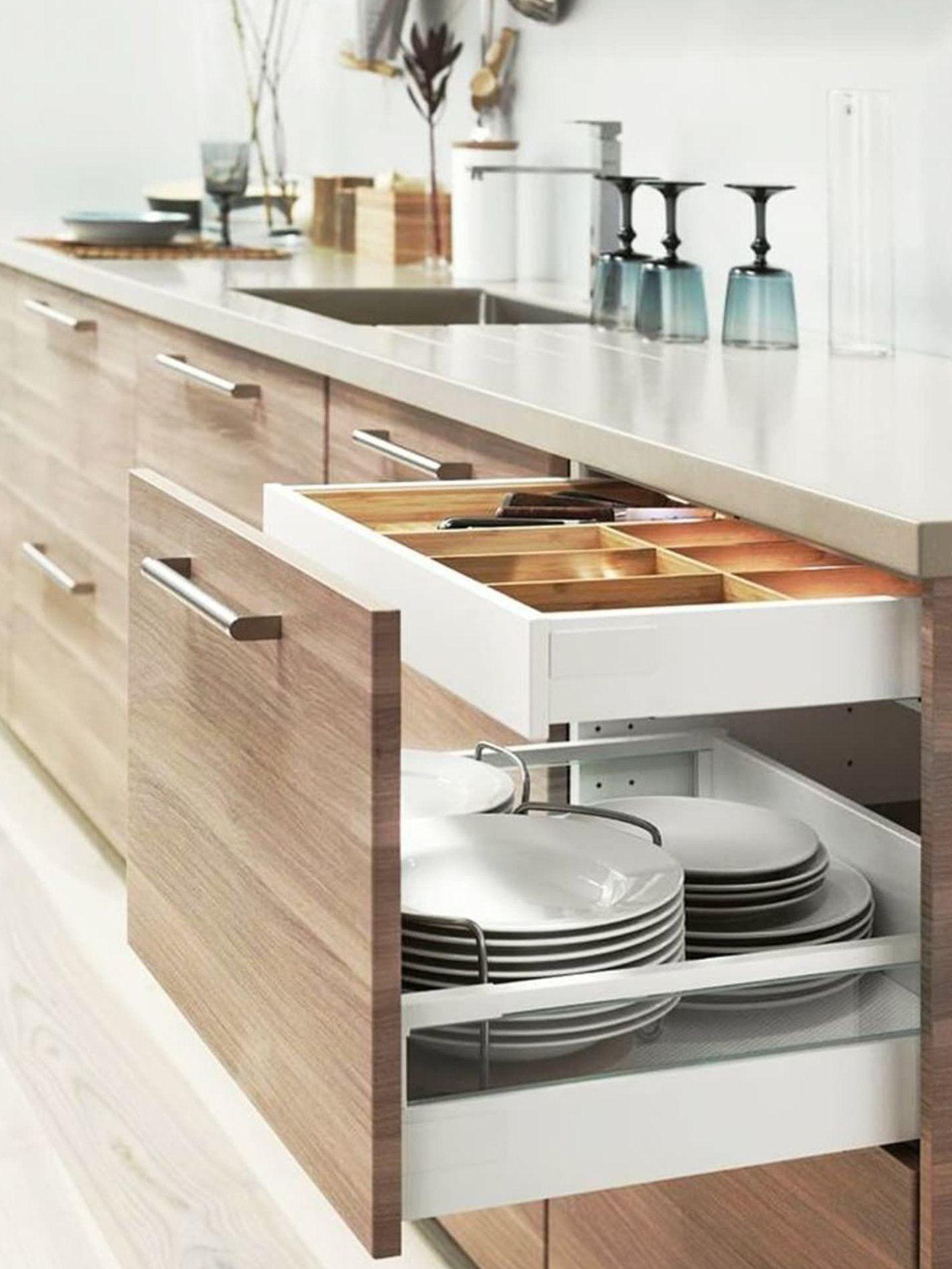 Smart Storage Totally Genius Ways To Customize Kitchen Cabinets Smartkitchen In 2020 Ikea Kitchen Design Kitchen Cabinet Design Kitchen Design