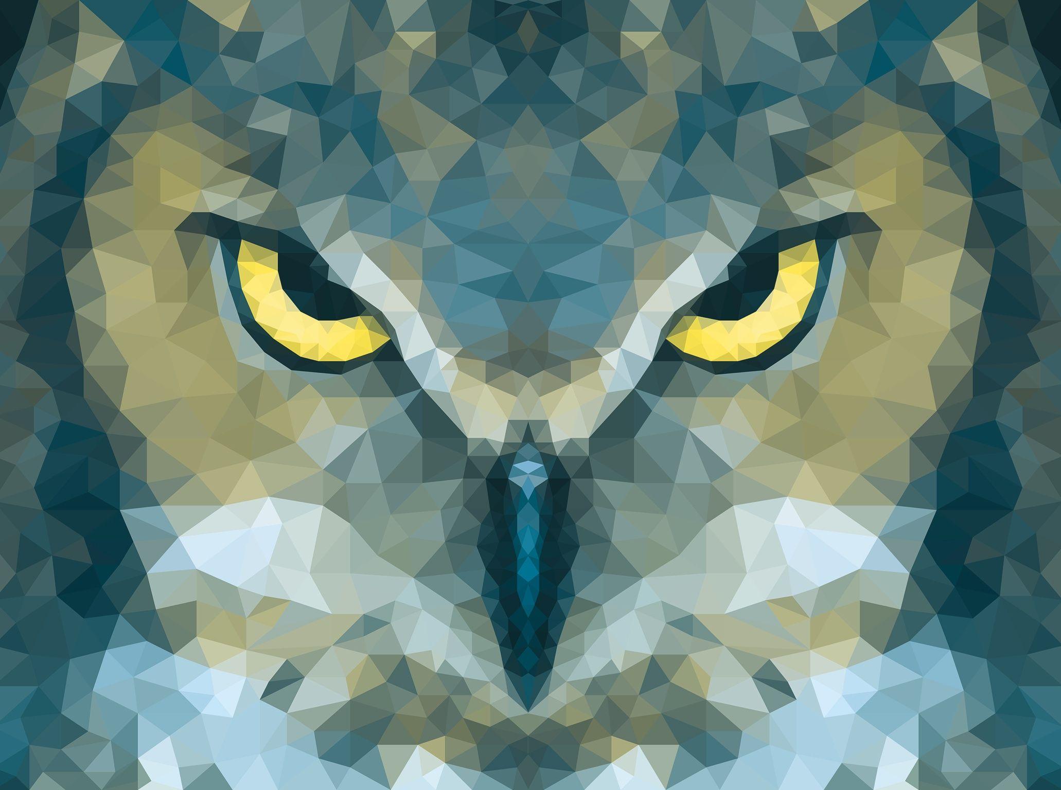 Owl Polygon Poster