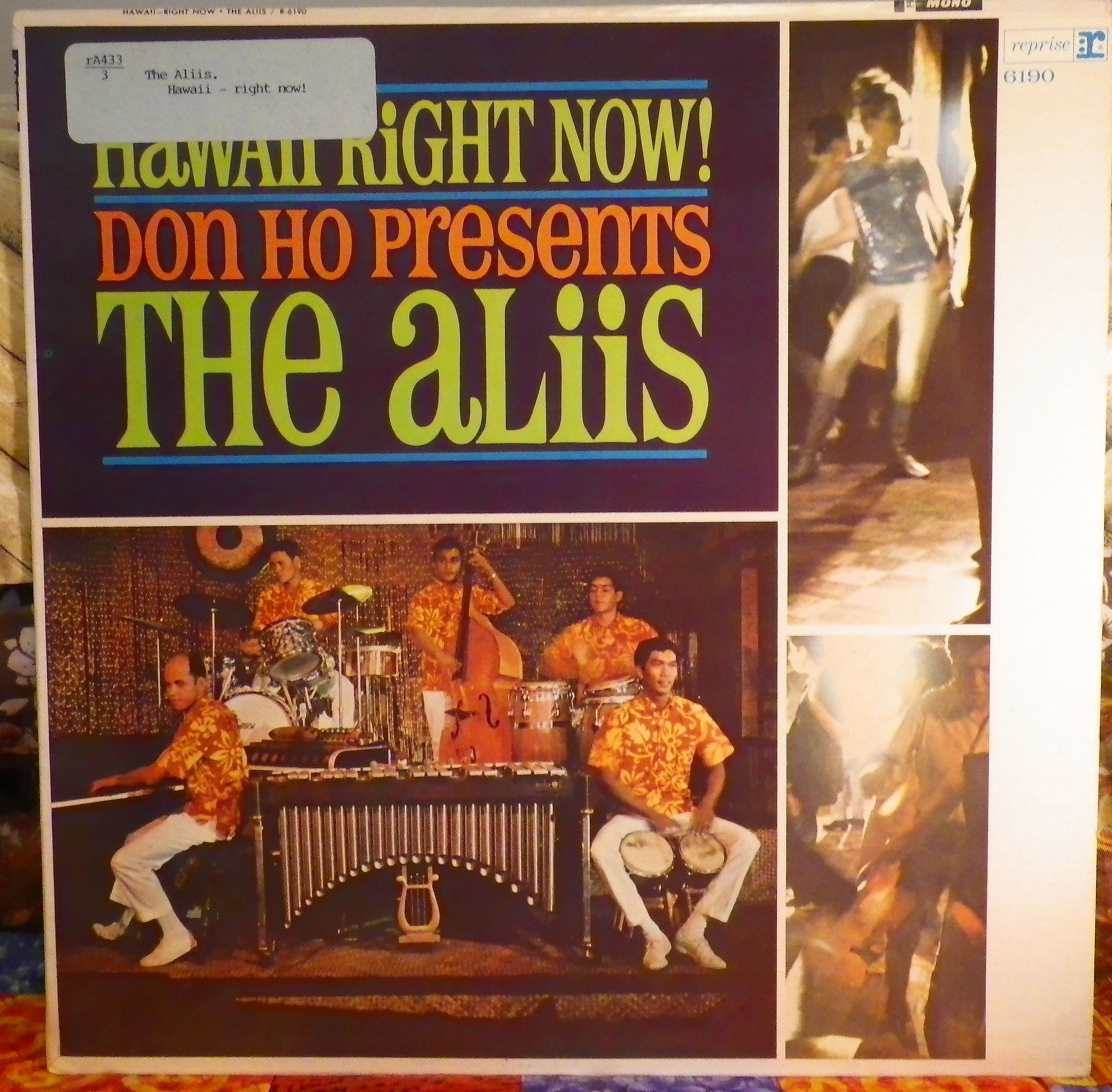 "Aliis. ""Hawaii, Right Now!""  Burbank, Calif., Reprise Records R 6190, monaural, no date. Hawaiian record."