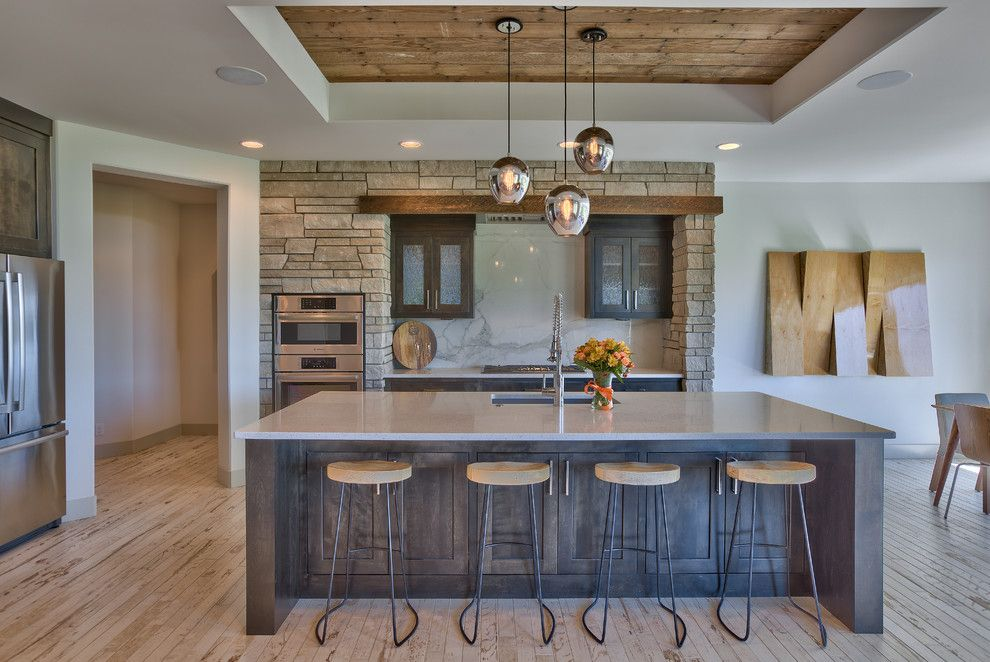 Contemporary Rustic Design Kitchen Transitional With Marble