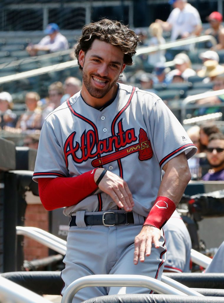 Dansby Swanson Of The Atlanta Braves In Action Against The New York Dansby Swanson Atlanta Braves Braves