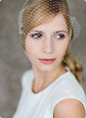 Braut haarschmuck mit schleier  Braut-Haarschmuck, Birdcage, Fascinator, Schleier, Jade ...
