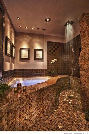 Modern Master Bathroom With Rain Shower Head Moroccan Cliff