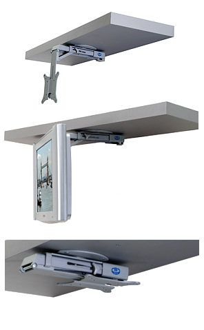 Reception Monitor Mount Idea B Tech Bt7525 Under Cabinet Flip Down Lcd Tv And